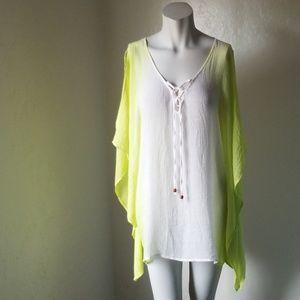 I.N. Studio  blouse/ cover up 2X EUC